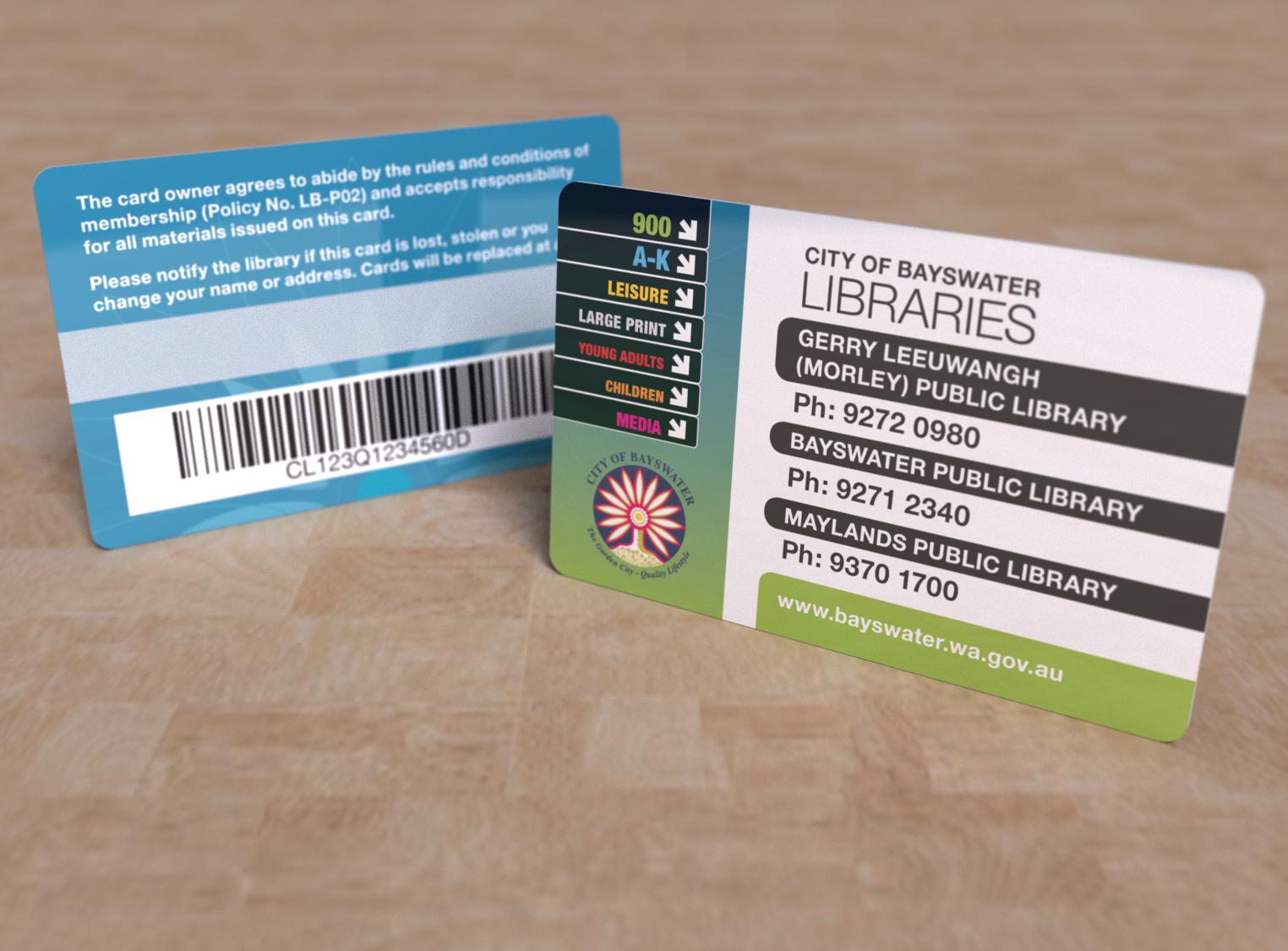 Library Card - City of Bayswater