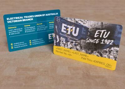ETU Victoria - Membership Card
